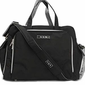 Jujube be prepared diaper bag black silver stars